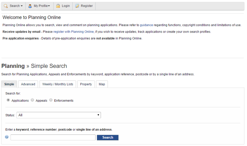 planning-application-search-page