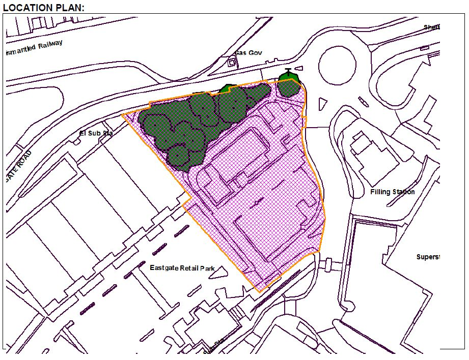 Eastgate Oak Location Plan